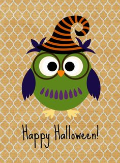Free Halloween Owl Printables from Glued To My Crafts