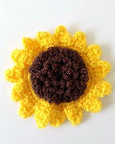 Large Sunflower Free Crochet Pattern from Maggie's Crochet.