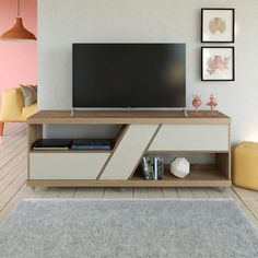 Bedroom Tv Wall, Master Bedroom, House Plans With Pictures, Feature Wall Design, Tv Unit Furniture, Rack Tv, Tv Stand With Storage, Mahogany Furniture, Tv Shelf