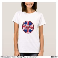 British Jockey Horse Racing Union Jack Flag T-Shirt - Fashionable Women's Shirts By Creative Talented Graphic Designers - #shirts #tshirts #fashion #apparel #clothes #clothing #design #designer #fashiondesigner #style #trends #bargain #sale #shopping - Comfy casual and loose fitting long-sleeve heavyweight shirt is stylish and warm addition to anyone's wardrobe - This design is made from 6.0 oz pre-shrunk 100% cotton it wears well on anyone - The garment is double-needle stitched at the…