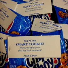 """could use this as an end of year treat...""""you're one smart cookie, you've finished 3rd grade..."""" or something like that!"""