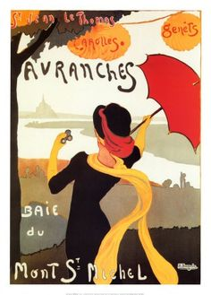 Vintage French Umbrella Advertisement   Poster  A3 Print