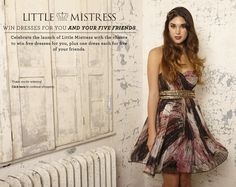 Win Little Mistress Dresses for you and your friends. Simply enter your personal details to be in with a chance of winning. Five Friends, Mistress, Dress For You, Competition, Product Launch, Celebrities, Dresses, Vestidos, Celebs