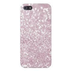 Girly Pink White Abstract Glitter Photo Print iPhone 5 Cases