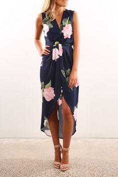 Lopez Dress Navy Floral