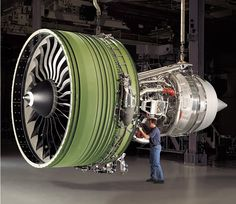 General Electric GE90-115B high-bypass turbofan aircraft engine built by GE Aviation exclusively for the Boeing 777..