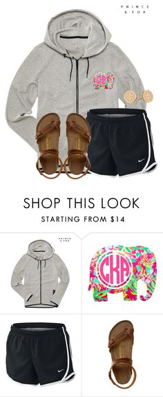 """I feel like this looks extremely stupid..."" by flroasburn ❤ liked on Polyvore featuring Aéropostale, Lilly Pulitzer, NIKE, Birkenstock and Tory Burch"