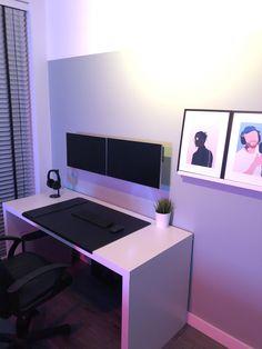 Bedroom Setup, Room Design Bedroom, Room Ideas Bedroom, Bedroom Small, Bedroom Designs, Home Office Setup, Home Office Space, Home Office Design, Office Workspace