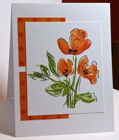 WT434 California Poppy by hskelly - Cards and Paper Crafts at Splitcoaststampers