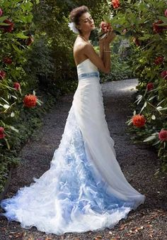 touch of Blue wedding dress