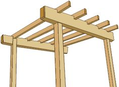 how to build an arbor with a flat roof