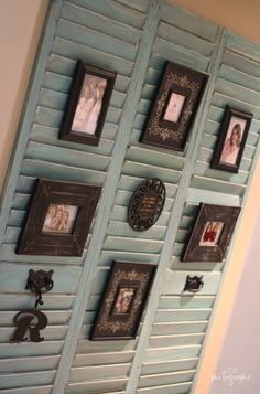 Love this picture hanging idea