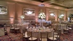 We loved working with Brittany Mangano & Michael Apa to create a custom lighting & decor design for their wedding on Saturday, July 2014 at Drury Lane! Ceiling Canopy, Ceiling Lights, Light Decorations, Table Decorations, Flower Lights, Table Centers, Event Lighting, Draped Fabric, Custom Lighting