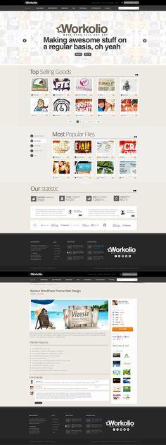 Workolio Web Design by *vasiligfx on deviantART