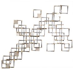 View this item and discover similar for sale at - A vintage mixed metal wall sculpture composed of layered squares. Metal Wall Sculpture, Wall Sculptures, Antique Furniture, Modern Furniture, Sustainable Furniture, Geometric Wall, Mixed Metals, Metal Art, Auction