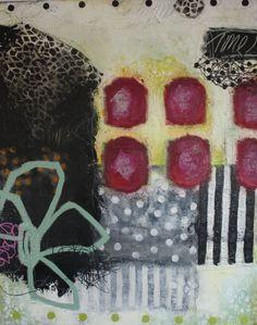 Janne Jacobsens tidligere værker. Flotte farverige malerier i forskellige størrelser med kontraster, små skriverier og små snirkler og forme. 21st Century Artists, Art Thou, Small Canvas, Happy Art, Quilt Stitching, Whimsical Art, Surreal Art, Ceramic Art, Painting Inspiration