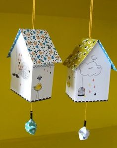 bird house paper diy