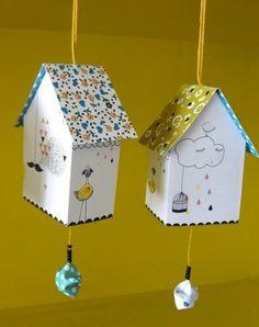 bird house paper diy