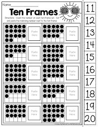 Image result for 5 and 10 frame activities for kindergarten