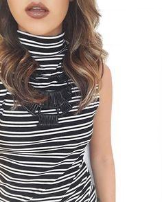 black and white, stripes, lipstick, matte, gloss, hairstyle, fashion, brand, new, new collection, preto e branco, listras, moda, nova coleção, marca, shopcarolfarina.com.br