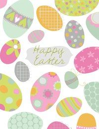Easter gift wrap pattern design eggs spring colour mark eggs by hiccup studio designs negle Images