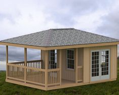, 20 x 10 Partially enclosed Gazebo with hip roof plans. This structure could also be used as a garden shed or man cave or she shed. With a covered deck. , Garden Gazebo/Man Cave/She Shed Building Plans I Hip Roof - 10 x 20 Deck Building Plans, Building A Shed, Building Ideas, Building Design, Man Cave And She Shed, Enclosed Gazebo, Design Loft, Casas Containers, Build A Playhouse