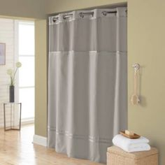 product image for Hookless® Escape Fabric Shower Curtain and Shower Curtain Liner Set