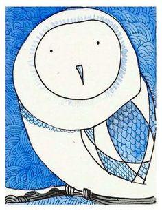 'White Owl' by Elina Lorenz