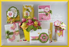 7 lovely projects made with Mixed Bunch stamp set and punch. Sandi Maclver is amazing!