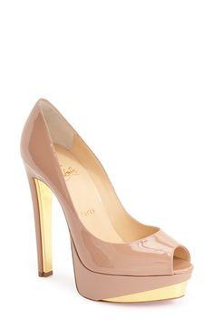 CHRISTIAN LOUBOUTIN 'Tuctivista' Platform Pump. #christianlouboutin #shoes #pumps