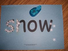 Snow paper punch activity from Making Learning Fun