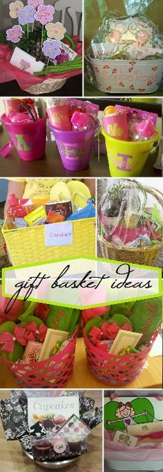 Art gift basket ideas family friend out-of-town guest baby shower birthday baking gardening gift-ideas