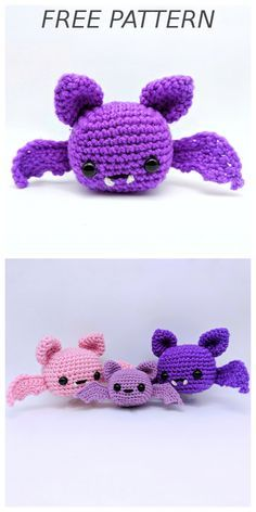 Spooky Batty Bat pattern by Crafty Bunny Bun- Spooky Batty Bat pattern by Crafty Bunny Bun FREE Bat Crochet Pattern! Who wouldn't want a cute batty bat for Halloween or for any occasion! And you know what is better than one bat? A family of bats ; Crochet Bat, Kawaii Crochet, Cute Crochet, Crochet Crafts, Crochet Dolls, Crochet Projects, Crochet Rabbit, Halloween Crochet Patterns, Crochet Amigurumi Free Patterns