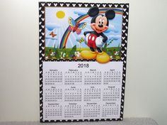 2018 Mickey Calendar and Bookmarks 1 by Wayne Swan