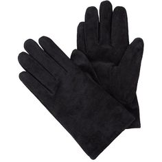 Black Suede Gloves ($7.77) ❤ liked on Polyvore featuring accessories, gloves, luva, suede leather gloves and suede gloves