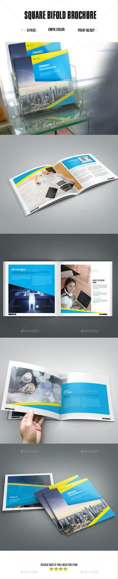 Corporate BiFold Square Brochure   Brochures Brochure