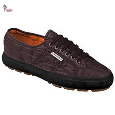 Chaussures Le Superga - 2750-tank Nyldownquiltu - Dark Chocolate-Mango - 35 - Chaussures superga (*Partner-Link)