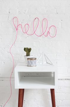 Liven up your home with this surprisingly easy neon light project from I Spy DIY. Neon Letter Lights, Light Letters, Diy Neon Sign, Neon Signs, I Spy Diy, Light Up Signs, Diy Simple, Diy Casa, Diy Inspiration