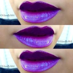 Make heads turn on your next night out with this glamorously vivid ombre lip in purple. These lip essentials are to die for!