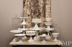 beautiful cake stands and domes