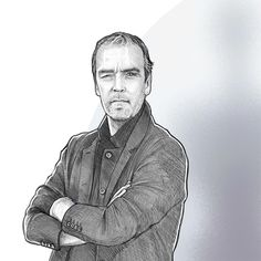 John Hannah as Holden Radcliffe (Agents of SHIELD) by Stuart O'Neill