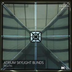 Blinds For Bifold Doors, Blinds For Large Windows, Skylight Blinds, Skylight Design, Roof Truss Design, Green Roof System, Electric Blinds, Roof Lantern, Window Detail