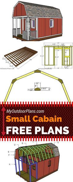 Step by step plans for building a small cabin with front porch and roof. Check out my free small cabin plans so you can build that beautiful hunting shack you have always dreamed about! myoutdoorplans.com #diy #cabin