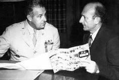 General Leslie Groves and David Lilienthal discuss the transfer of responsibility for atomic energy research and development and weapons production from the Army to the civilian Atomic Energy Commission.