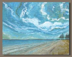 beach+painting+abstract+painting+by+SageMountainStudio+on+Etsy