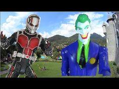Homem Formiga Ant-Man Marvel X Coringa Joker DC Comics Boneco Brinquedos...