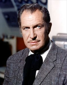 "Vincent Price. King of horror films and the 'voice' in Michael Jacksons' hit song ""The Thriller""."