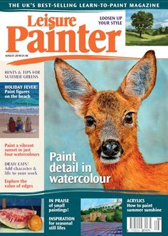 See what's coming up in the August 2018 issue of Leisure Painter Male Magazine, Arts And Crafts Projects, New Hobbies, Learn To Paint, Art Auction, Painting & Drawing, Watercolor Painting, Graffiti Art, Beautiful Paintings