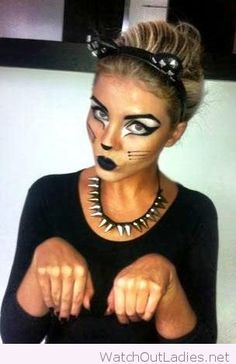 Awesome makeup and accessories perfect for a cat
