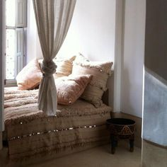 Moroccan wedding blanket bed